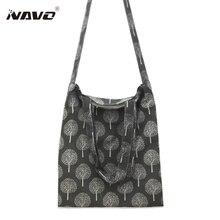 Серый/бежевый бязь мешок из хлопка и льна торгового плечо сумка ЭКО многоразовый мешок Bolso Mujer
