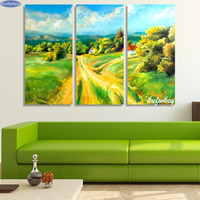 3pcs 5D Diy Square Diamond Embroidery Country Road Painting Cross Stitch Resin Full Diamond Painting Landscape