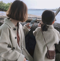 Family Matching Clothes Mother and Daughter Clothes 2019 Winter Fashion Korean New Christmas Clothes Baby Jackets and Coats 2 7Y