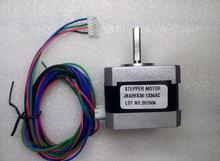 3pcs 1.8 degree 42mm 2 Phase Hybrid Stepper Motor, 2.8V 1.33A NEMA17 42HS34-1334-01 2.6Kg.cm 4leads 3D printer motor