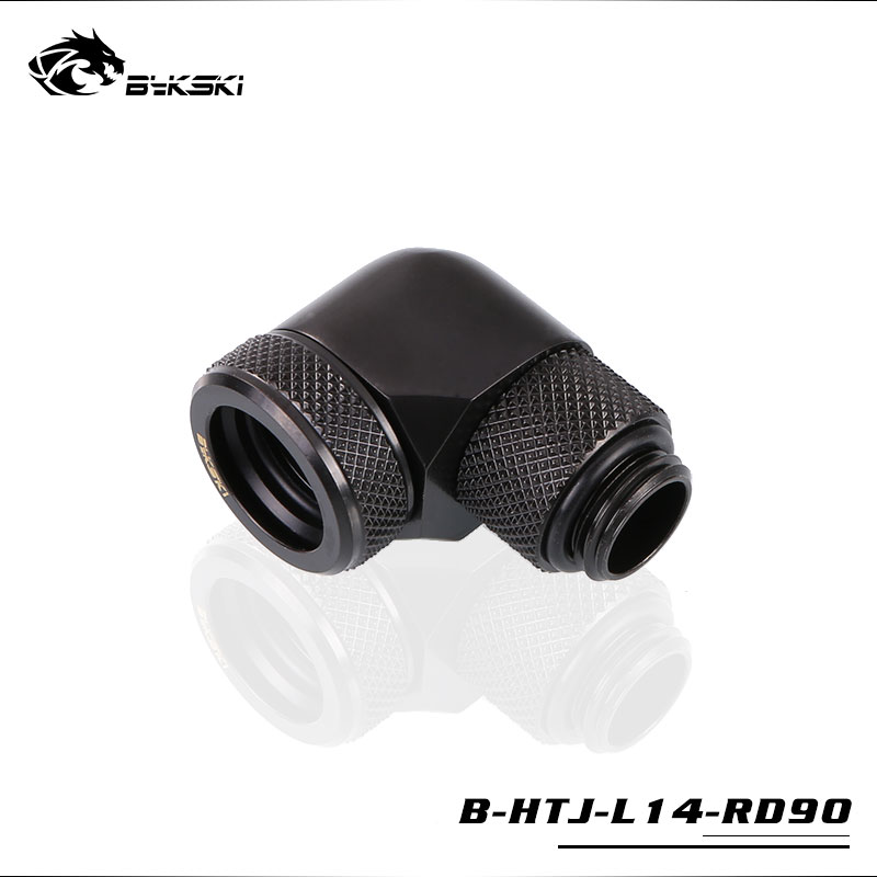 BYKSKI 90 Degree OD14mm Hard tube rotary fitting hand compression fitting G1 4 pipe use for