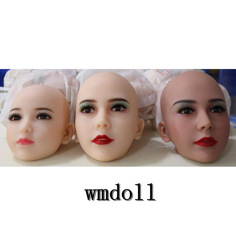 WMDOLL #20 TPE sex doll head for love doll, silicone adult dolls heads with eyes, oral sex products wmdoll top quality 91 head for tpe sex doll full silicone love doll heads oral sex products