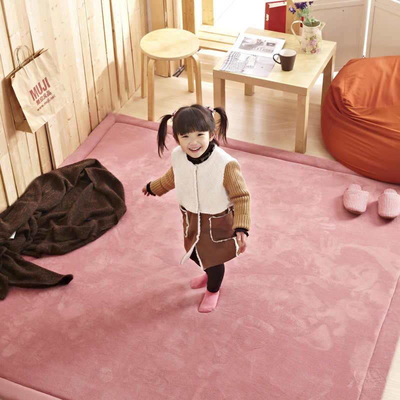 Коралловый флис бархат простые японские татами 20 мм толстые коврики для спальни утолщенные дети влезают игровой коврик lvingroom коврик