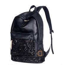 Новый 2016 Женская Мода Рюкзаки Big Crown Вышитые Пайетками Bagpack Оптовая Кожа PU Рюкзак Школьные Сумки Для Подростков