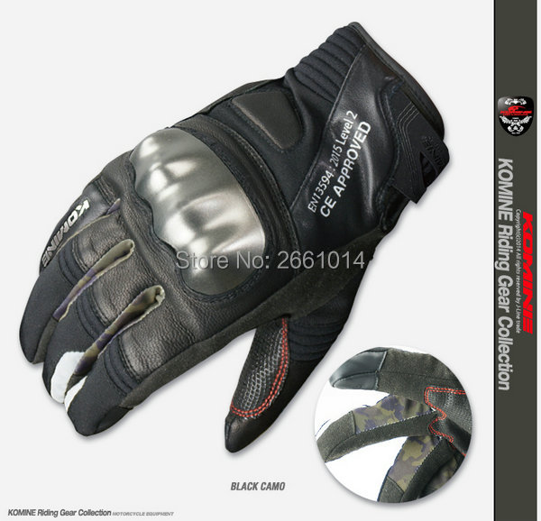 Free shipping 2016 newest high quality motorcycle gloves komine GK 817 leather gloves touch screen keep