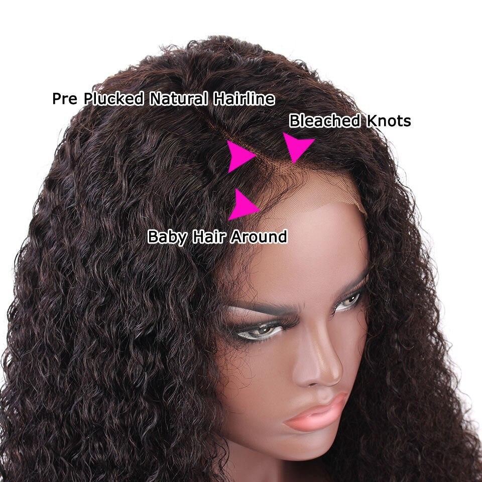 YVONNE Malaysian Curly Virgin Human Hair Lace Front Paryk För Svart - Mänskligt hår (svart) - Foto 4