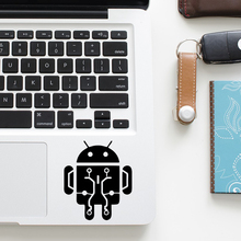 Android Robot Cartoon Vinyl Decal Laptop Trackpad Sticker for Macbook Pro Air Retina 11 12 13 15 inch Mac Notebook Touchpad Skin