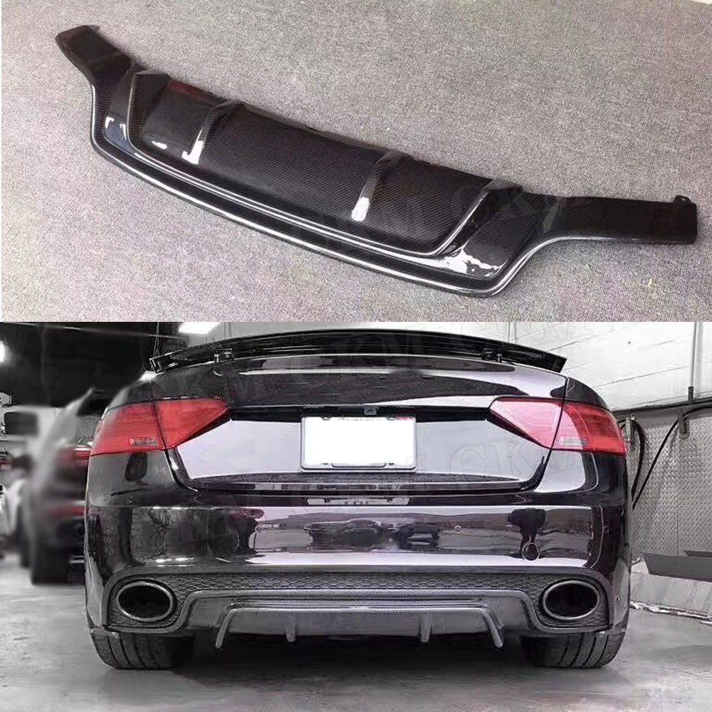 Carbon Fiber Rear Bumper Lip Diffuser for Audi A5 RS5 2015 not For A5 Standard Skid Plate Car Styling
