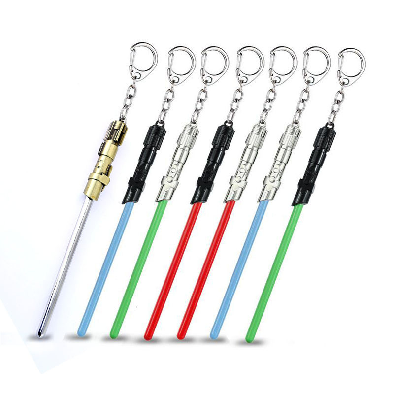 Star Wars Lightsaber Keychain 11cm Length Stormtrooper Key Chain Ring Holder Cosplay Jewelry Men Gift Porte Clef Chaveiro Trendy
