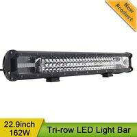 23 Inch 162W Tri Row Led Light Bar Offroad Combo Beam 12V 24V Led Bar Work Driving Headlight Fog Lamp for Offroad Off Road 4x4