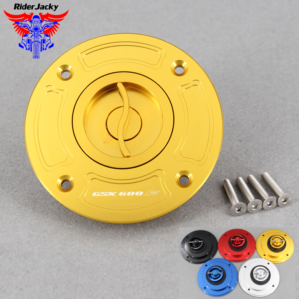 Motorcycle Accessories Fuel Gas Tank Cap Cover For <font><b>Suzuki</b></font> GSX 600F GSX 600 F <font><b>GSX600F</b></font> 1998-2001 2000 <font><b>1999</b></font> CNC Aluminum Keyless image