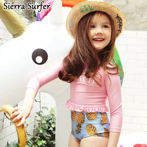 Kids Swimwear For Girls 2019 Two Piece 2 Children's Cute Swimsuits Children Swimsuit Triangle Girl Swimming Suit Candy Color(China)