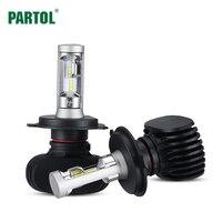 Partol S1 H4 H7 H11 9005 9006 Car LED Headlight Bulbs 50W 8000LM CSP Chips LED