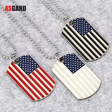 ASGARD US Flag Necklaces & Pendants Stainless Steel USA American Chain For Men/Women Gift Hot Fashion Jewelry Wholesale
