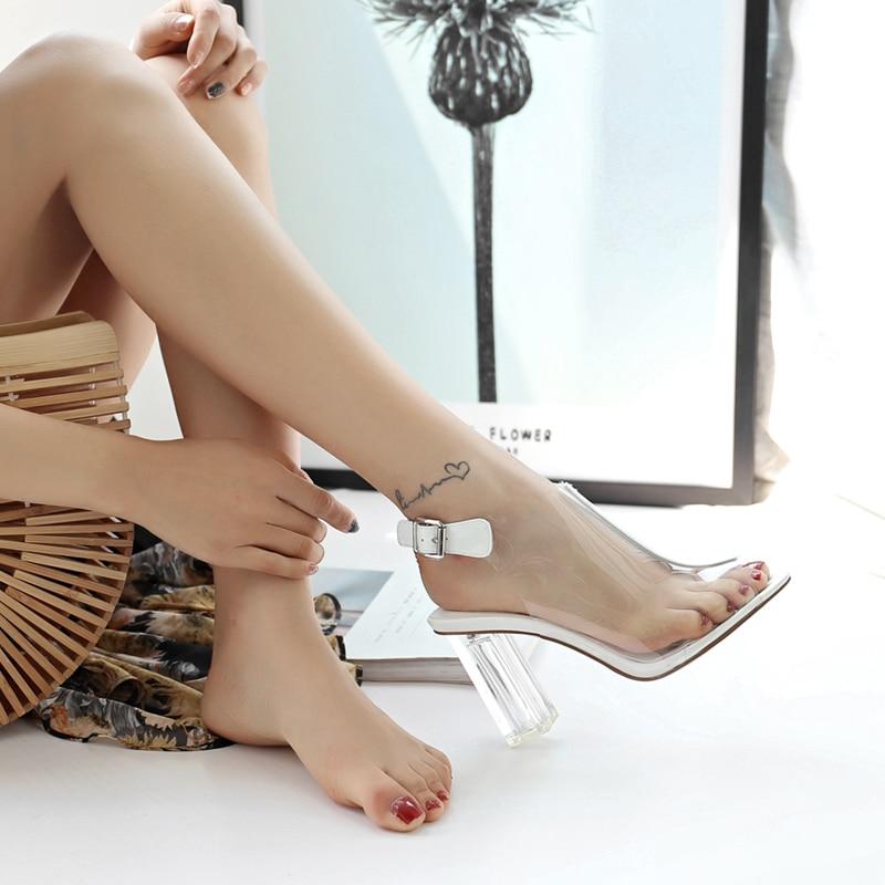 Nuovo Il Lapolaka Cinghia bianco Toe Estate Caldo Fibbia Di Da Tacco Ins Scarpe Sandali Nero Vendita Donna Grosso 2019 Modo Peep qEUAwrEB