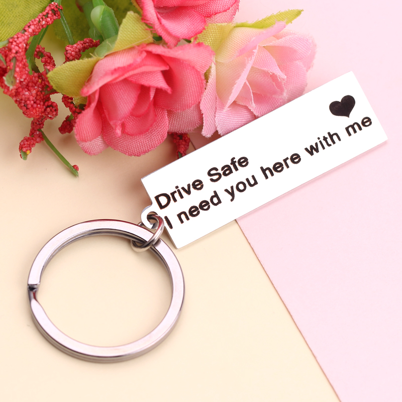 Personalized Calendar Key Chain Custom Gift Engraved Heart