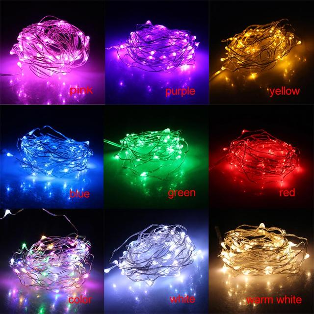 topled 5m 50 led christmas light holiday led battery string lights whitewarm white