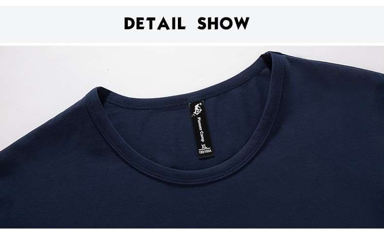 Pioneer Camp 17 New Arrive Mens T Shirts Fashion O-Neck casual Long Sleeve T-Shirt Gradient band Clothing T Shirt Homme 611907 22