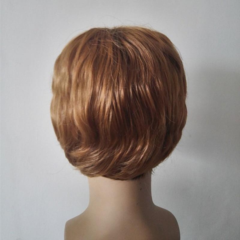 Fei Menunjukkan Pria Wig Sintetis Serat Tahan Panas Sopak Bergelombang Pendek  Rambut Laki laki Hitam  3ea6184652