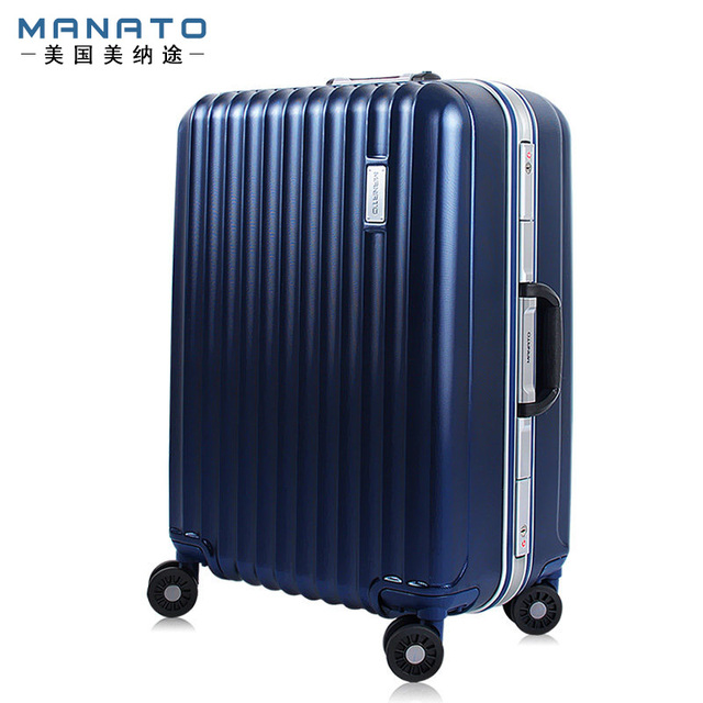 MANATO Unisex 20 Inch Travel Rolling Luggage 4 Colors PC Suitcases Male Female Anti Scratch Aluminum Trolley Spinner Luggages