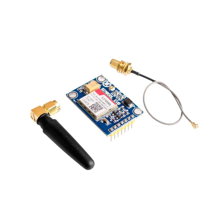 10pcs/lot SIM800L V2.0 5V Wireless GSM GPRS MODULE Quad Band W/ Antenna Cable Cap-in Integrated Circuits from Electronic Components & Supplies