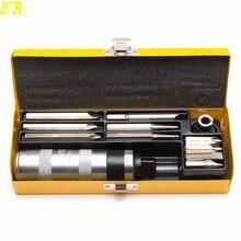 정품 tdpro 12 pcs ferramentas 자동차 도구 충격 드라이버 세트 스크류 드라이버 크롬 스틸 + 금속 상자 sae 비트 세트