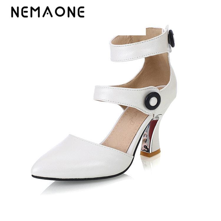 NEMAONE 2017 sexy women shoes poined toe women pumps high heel shoes woman summer high heels large size 34-43 nemaone 2017 new elegant women pumps poined toe low heels women shoes office lady dress shoes zapatos mujer large size 34 43