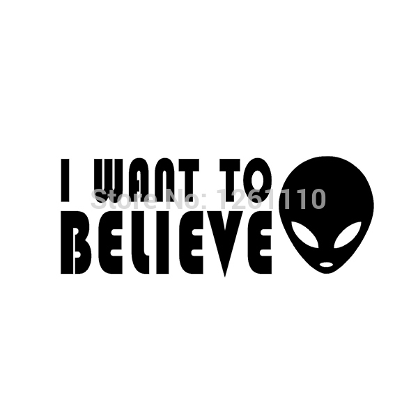Online shop wholesale 5pcs10pcs20pcs lot i want to believe sticker alien ufo x files vinyl decal for car suv truck window bumper aliexpress mobile