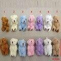 "20pcs x 4.5cm(1.6"") Plush Long Wool Miniature Tiny Small Jointed Bunny Rabbit Bear Dolls House Craft"