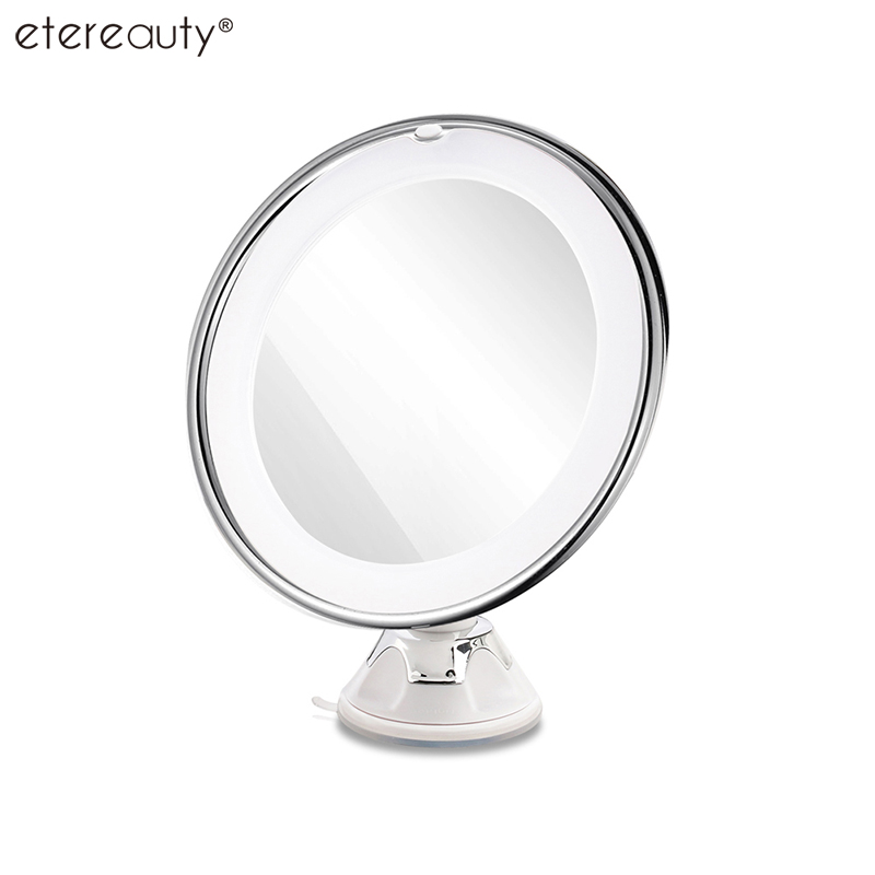 3x 10x Magnifying Round Mirror Free Standing Table Top