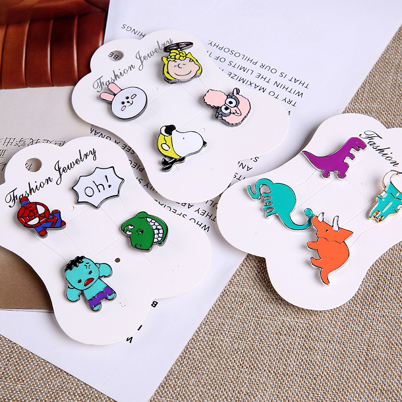 Brooches Dinosaur Cute Animal Enamel Pins Brooches Collar Dresses Brooch Jewelry Pin Jean Bag Button Badge Set Charm Accessories Children