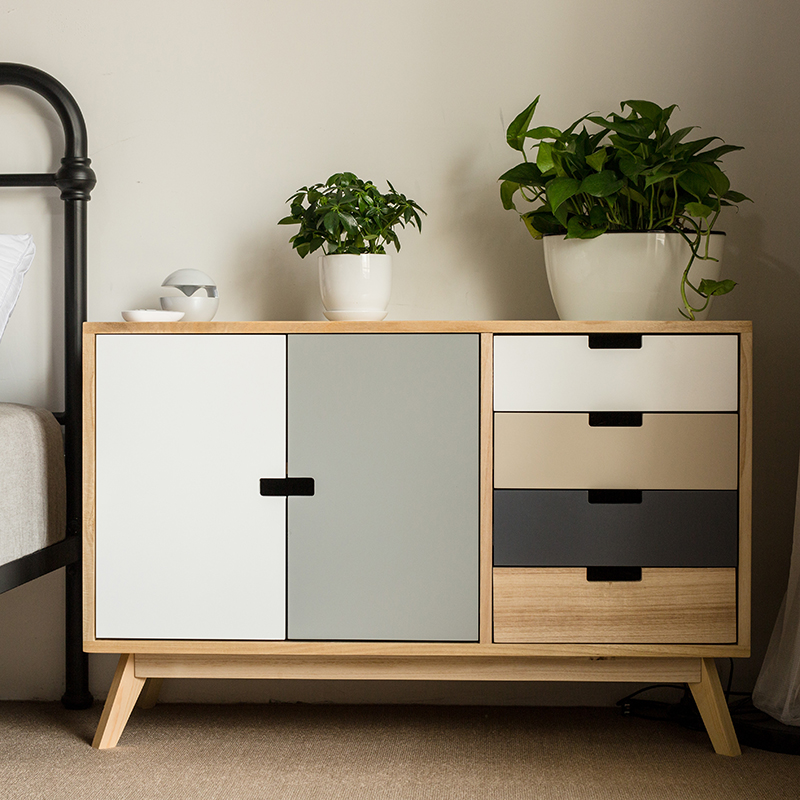 Storage Cabinets For Living Room: Louis Fashion Living Room Cabinets Solid Wood Simple
