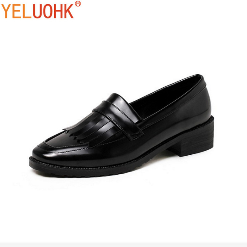 33-43 Oxfords Shoes For Women Patent Leather Flat Shoes Women Spring Women Loafers Big Size Slip On new round toe slip on women loafers fashion bow patent leather women flat shoes ladies casual flats big size 34 43 women oxfords