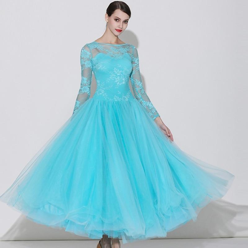 Standard Ballroom Dress Woman Ballroom Dance Competition Dresses Waltz Dance Dress Swing Dance Costume Women Dance Wear Lace
