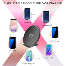 Wireless Charger for iPhone X 8 XS MAX 10W USB Wireless Charging for Samsung Galaxy S8 S9 S7 Edge Qi USB Wireless Charger(China)