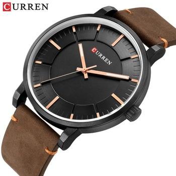Simple Fashion Analog Quartz Mens Watches CURREN Casual Business Leather Wristwatch Male Clock Classic Men's Watch erkek saati - discount item  47% OFF Men's Watches