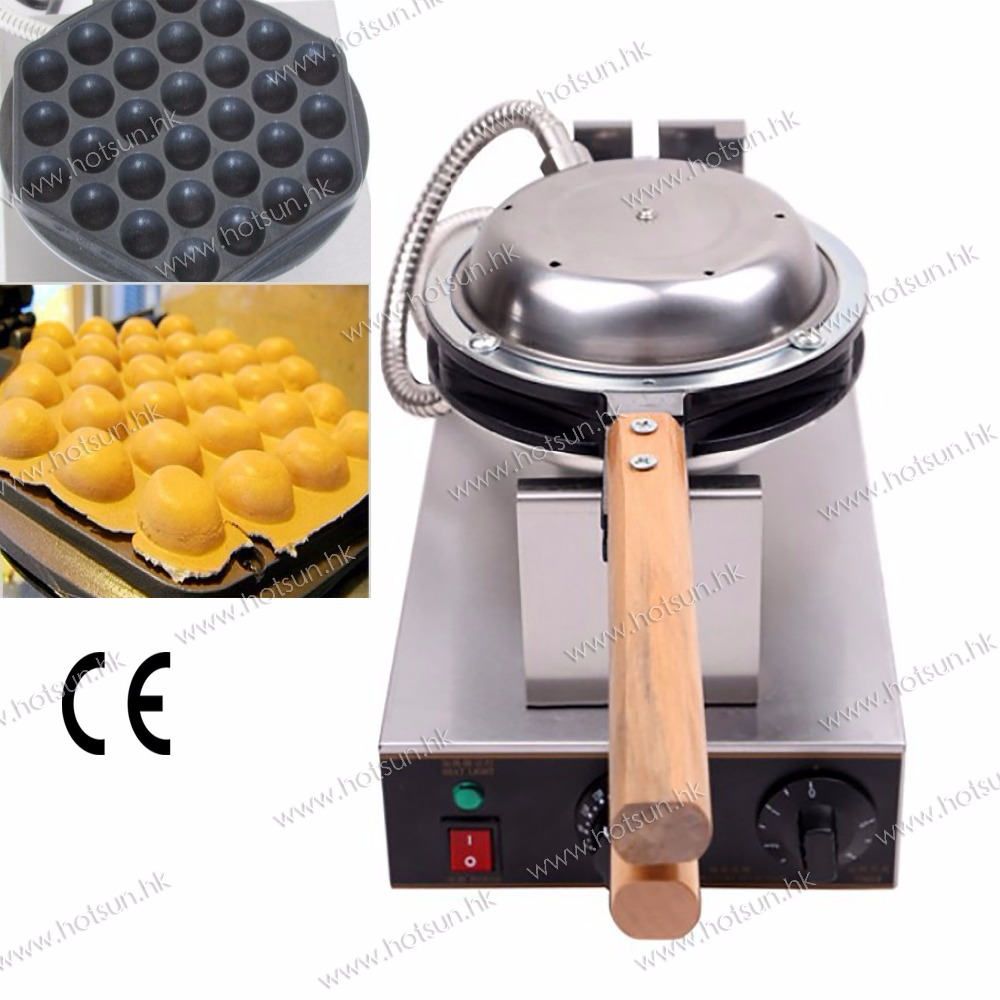 Free Shipping 4 units  lot 110V 220V Stainless Steel Electric Eggettes Egg Waffle Maker Baker Machine Iron free shipping stainless steel electric eggettes egg waffle maker rotated 180 degrees