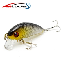 Купить с кэшбэком Amlucas Minnow Fishing Lure 50mm 3.6g Topwater Hard Bait Japan Crankbait Carp Fishing Wobblers Artificial Tackle WE203