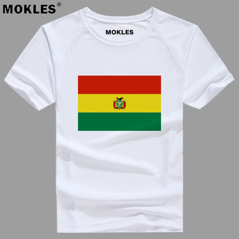 BOLIVIA t shirt diy free custom made name number bol country t-shirt bo nation flag spanish college bolivian print photo clothes