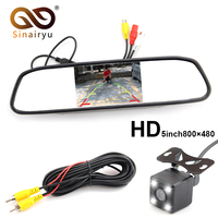 Sinairyu High Resolution 5 Color HD TFT LCD Car Rearview Mirror Monitor 800 480 With Auto