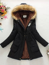 2018 New Parkas Female Women Winter Coat Thickening Cotton Jacket Womens Outwear for