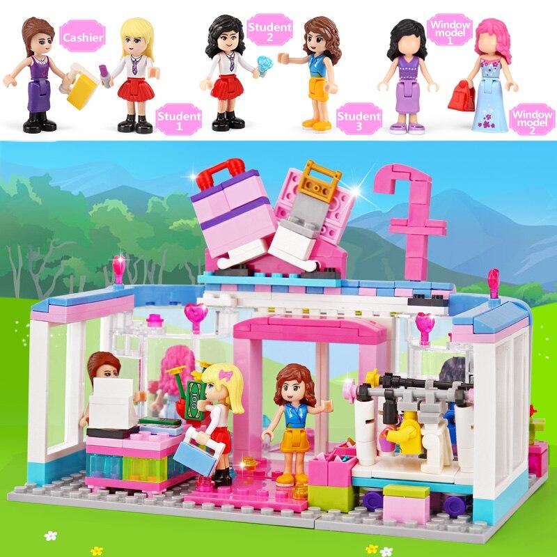 New XingBao 12010 453Pcs City Girls Series The Fashion Clothing Store Set Building Blocks Bricks Educational Funny Kid Toys G