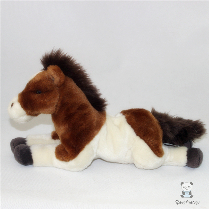 Stuffed Animals Pony Zebra Doll  Plush Simulation  Horse Toy  Children Gifts Toys Home Decoration cute white seal doll toy plush seals toys baby gifts stuffed animals kawaii