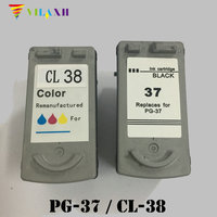 PG 37 CL 38 ink cartridge for Canon PG37 CL38 Pixma MP140 MP190 MP210 MP220 MP470 MX300 MX310 iP1800 iP1900 iP2500 iP2600