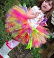 Colorful Baby Petti tutu girls tutu ballet skirt fluffy tutu skirt mix colors in one skirtMOQ 1 pc rainbow tutu skirt