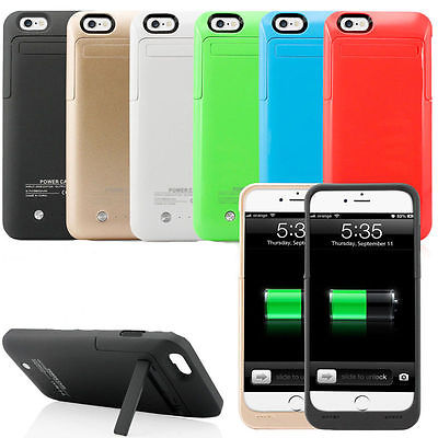 3500mAh Rechargeable Backup External Battery Charger Power Bank Pack Shockproof Protective Case Cover for iPhone 6 6s 4.7inch