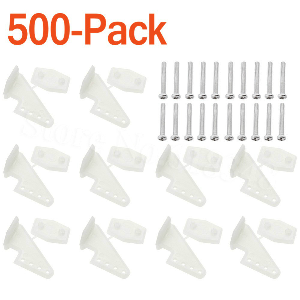 500Sets Lot Nylon Plastic Standard Control Horns W13xL18xH25mm 4 holes With Screws For RC Airplane Parts
