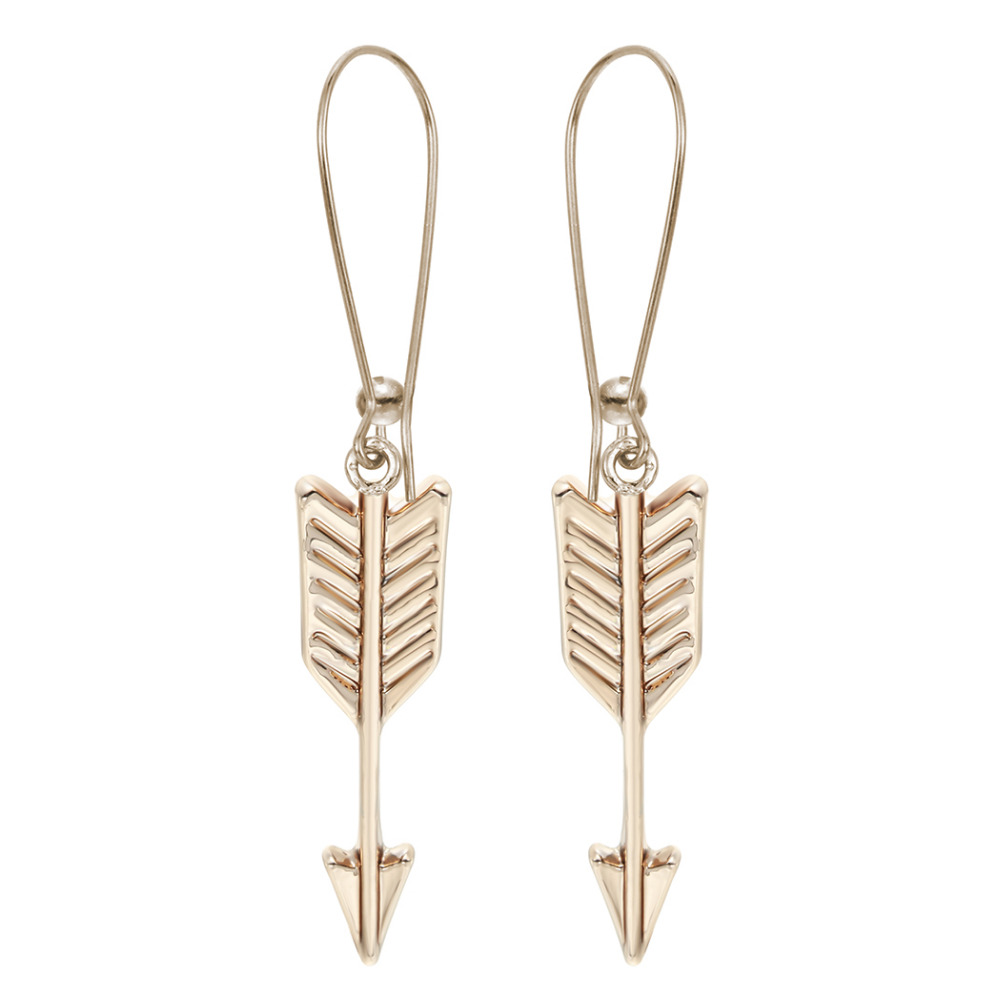 10pair Gold Silver One Direction Arrow Earrings Geometric Newest Unique  Punk Hunger Games