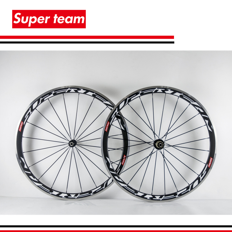 T700c clincher carbon bicycle wheelset alloy carbon wheel 38mm road wheel with aluminium braking surface