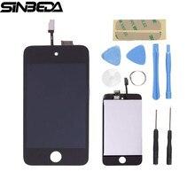 Лучшие Sinbeda Замена для Ipod Touch 4 4 г ЖК-дисплей и сенсорным экраном дигитайзер сборки Бесплатная Открытие Tools + клей ЖК-дисплей Экран